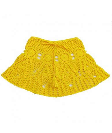 Women Beach Knitted Skirt Sexy High Qualilty Hollow Out Night Club Outfits Female Petticoat New Arrival 2019 Summer Vintage ...