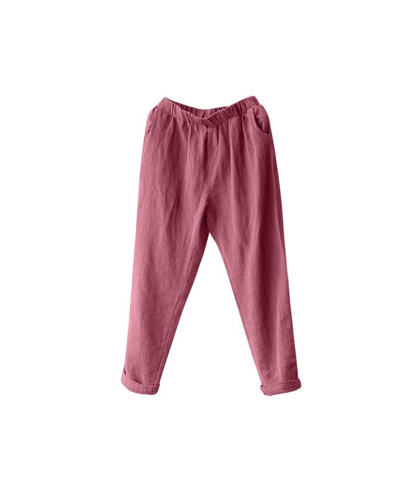 New 2019 Women Fashion Large Size Plus Size Women Linen Harem Pants Baggy Loose Trousers Casual Lady Sportstrousers Z0316 - ...