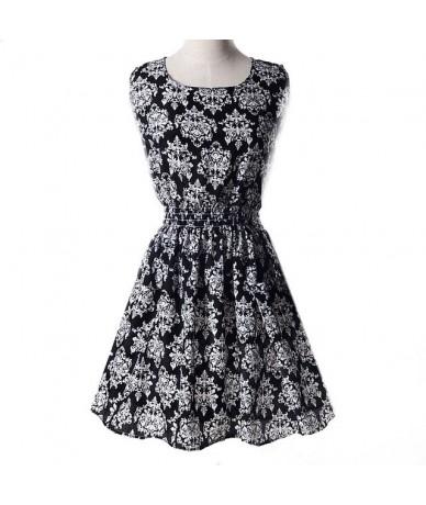 Print Dress Women Summer Dresses Leopard Vestido Plus Size S-XL Slim Beach Dress Girl High Quality Casual Mini Dress - 8 bl...