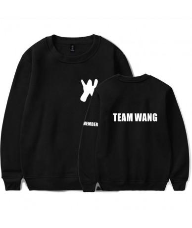 Kpop GOT7 Jackson Hoodies Women Men Team Wang Letter Print Korean Fans Female Pullover Fashion Team Wang Moleton - Black - 4...