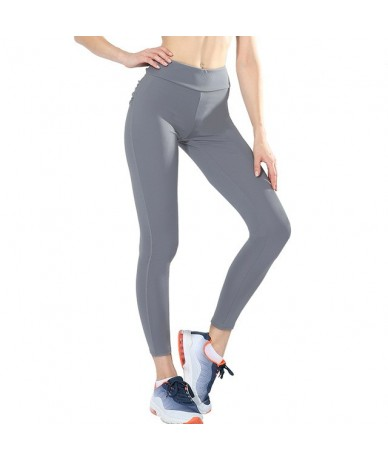 Women High Waist Push Up Leggings Workout Legging Femme Breathable Bodybuilding Polyester Casual Clothing Trousers Pants - L...
