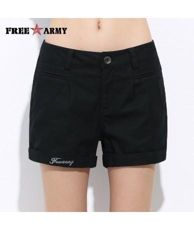 Womens Shorts Summer Fashion Casual Cotton 4 Solid Colors Short Pants Brand Clothing Black Sexy Hot Woman Shorts Dropshippin...