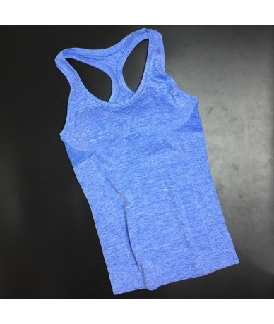 Summer Style Casual Loose Women's Fitness Tank Top Breathable Women Gyming Clothing Comfortable Quick-drying Vest - Blue - 4...