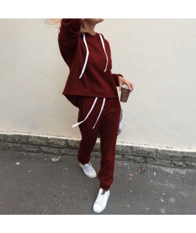 2019 New Spring Autumn Tracksuit Suit Women Tracksuit Set Long Sleeve Thicken Hooded Sweatshirts 2 Piece Set Casual Sport - ...