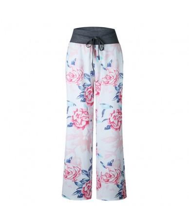 Women Streetwear 2019 Summer Pants Women Bohemian Plus Size Fashion Pants Elastic Waist Harem Pants Vintage Beach Trousers -...