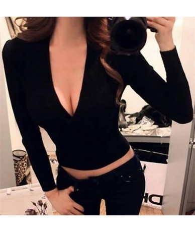 Sexy Winter Knitted Sweater V Neck Cashmere Sweater Female 2018 Women Sweaters And Pullovers Autumn Long Sleeve Sweater Jump...