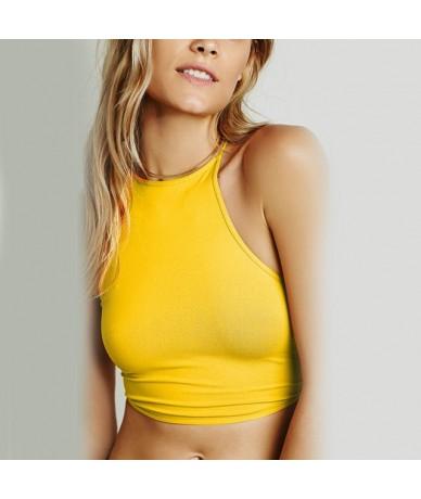 Summer Backless Cami Halter Crop Top Women Sexy Bustier Bralette Vest Bra New - NO.Y vest - 4E4136241152-5