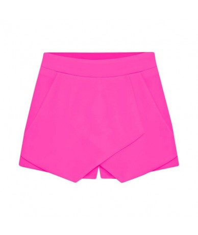 Women's Shorts Fashion design Plain-color Front Cross-hip Casual summer shorts women casual shorts aug 7 - Hot Pink - 561111...