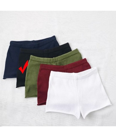 Summer Hot Black Shorts Hemming Knitting High Waist Shorts Women Booty Beach Sexy Mini Shorts - Color 4 - 4H3920834175-4