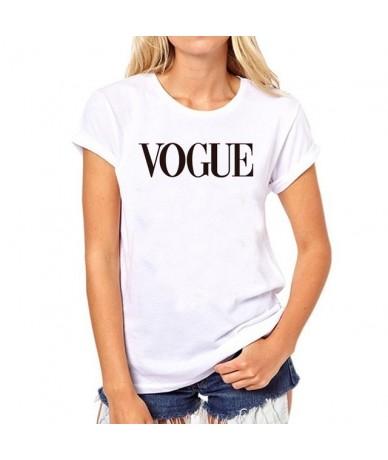 Plus Size M-3XL Harajuku Summer T Shirt Women Fashion VOGUE Printed Short sleeve Woman Tee Tops Casual Female T-shirt BLACK ...