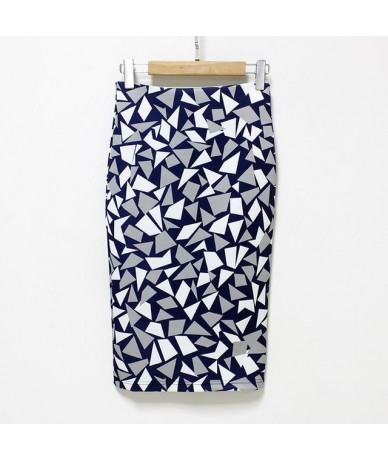 Pencil Wrap Office Skirts Women's Floral High Waist Skirts Vintage Elegant Print Midi Skirt 2018 Summer Wholesale Dropshippi...