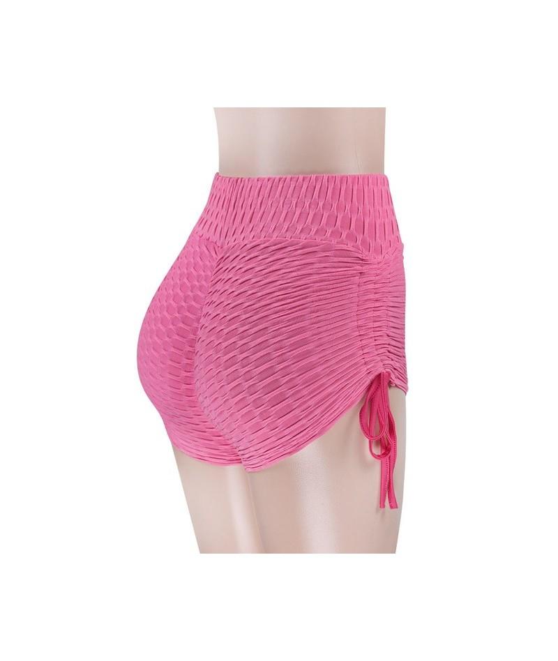 New Arrival 2019 Summer Sport Wear Fitness Lace Up Shorts Women High Waist Spandex Gym Casual Neon Pink Biker Mini Shorts - ...