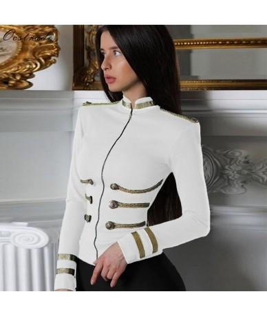Women Jackets Spring Autumn Coat 2019 Party High Quality White Plus Size Elegant Long Sleeve Bandage Jacket Bodycon - White ...