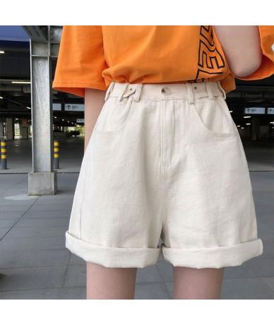 Black Pockets Summer Women's Shorts Harajuku Kawaii Casual White High Waist Shots Jeans Loose Korean Simple Denim Shorts Fem...