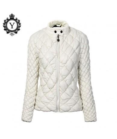 Women's Autumn Winter Jacket Coat Short Slim Brand Parkas Mujer 2019 Female Waterproof Warm Womens Quilted Jacket Beige - Be...