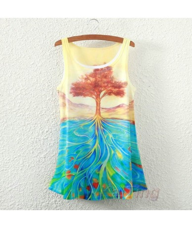 2015 New Fashion Vintage Spring Summer Women Sleeveless Print Animal Horse Lion Love Printing T Shirt Tee Blouse Vest Tank T...