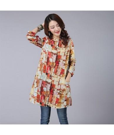 Fashion Female Cotton Blusas 2019 Autumn Kimono Long Floral Print Women Tops and Blouses Plus Size Cardigan Tunic Women's Sh...