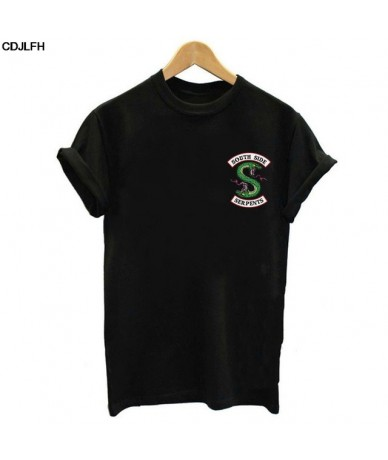 Summer Riverdale T Shirt Women Plus Size Fashion Tee SouthSide Serpents Jughead Female TShirt Harajuku Streetwear Black T-sh...