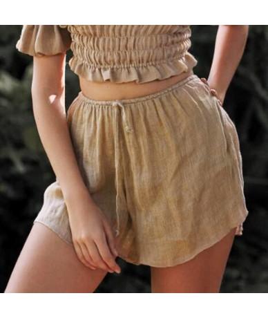 Yoga Shorts Casual Gym Summer Sports Beach Elastic waistband Trousers Ladies Loose Fitness - Khaki - 5G111188039913-3