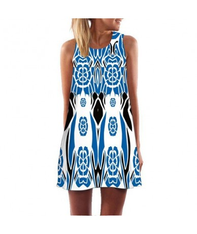 Floral Print Black Vintage Dress Summer 2019 Fashion Sleeveless Casual Chiffon Dress Women Loose Beach Dress Sukienki - 325 ...
