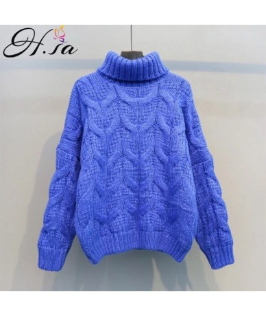 Women Winter Warm Christmas Sweaters Korean Twist Knitwear Pullovers Long Sleeve Thick Jumpers Loose Outerwear Tops 2018 - H...