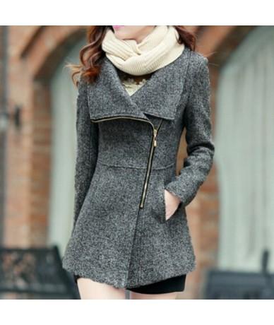2019 New Europe Autumn Winter Women's Temperament Woolen Jackets Coats Female Casual Clothing Fashion Women Slim Jackets Coa...