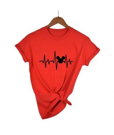 T Shirt Plus Size Mickey TShirt Women Shirts Summer Tops Graphic Tees Women Mickey Mouse Heartbeat Kawaii T-shirt XS-XXL - r...