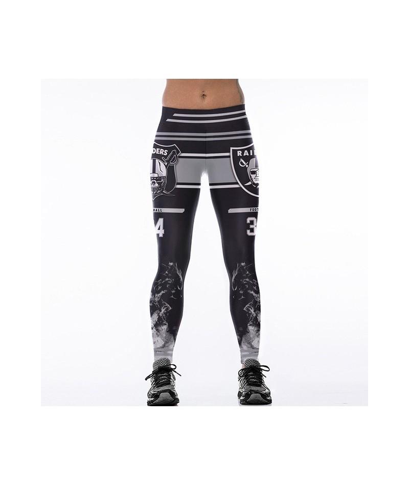 2017 New Teams Leggings Women Match Raider Sporting Legging Fitness 3D Print High Elastic No Transparent Plus Size Pants - M...
