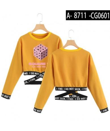 Blackpink Kpop Sweatshirt Harajuku Kawaii Summer Crop Top Women Clothes 2019 Korean Style Women Long Sleeve Fashion Hot Sale...
