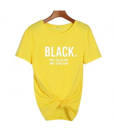 BLACK No Sugar No Cream Funny T Shirts Women Clothes 2019 African American Woman Tops Cool Summer Tops Punk Harajuku Tees - ...