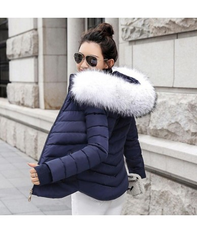 new arrival 2019 Winter Jacket with hood Women Warm Down Jacket winter parks faux Fur coats for women quilted casaco feminin...