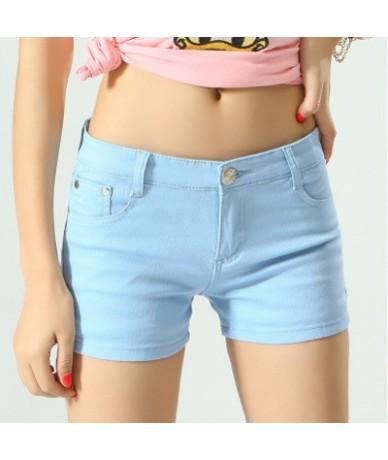 Women Shorts Mujer Summer 2019 Casual Elastic Waist Elegant Female Beach Cotton Shorts For Women Pantalon Plus Size - NavyBl...