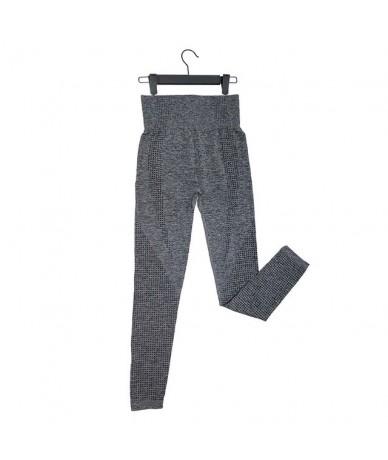 High Waist Seamless Leggings For Women Solid Push Up Leggins Athletic Sweat Pants Sportswear Fitness Leggings - Dark Grey NS...