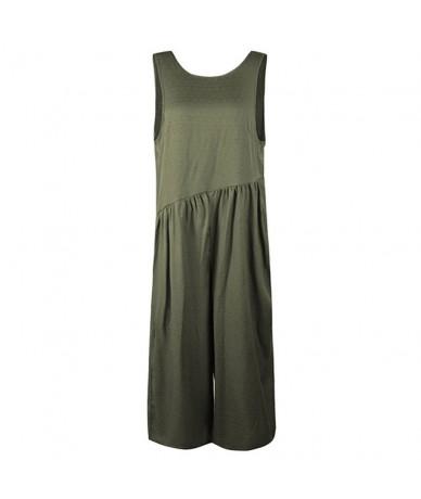 Rompers Womens Jumpsuit 2019 Summer Tracksuit Casual Sleeveless Dungarees Loose Wide Leg Pants Pantsuit Playsuit female Romp...