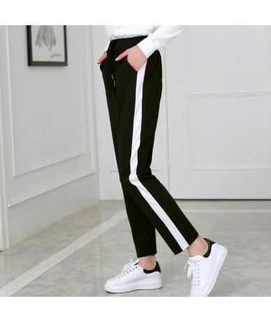 women Leggings S-XXL Trousers Drawstring Wide Leg Pants Women Bottoms Pantalon Femme Loose Striped Fashion Harem Pants Women...