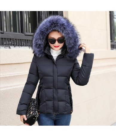 winter jacket women 2019 New style Coats Artificial collar Female Parka Thick Cotton Padded Lining Winter Coat Ladies S-3XXX...