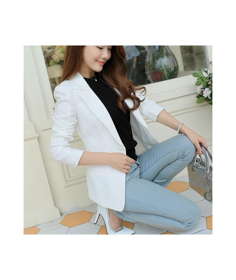 New Fashion Women Solid Blazer Females Casual Suit Womens Single Button Slim Jacket Female Top Coat Cape Ladies Korean Style...