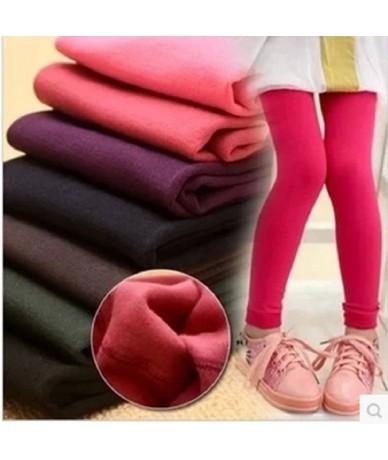Winter Girls Leggings Winter Warm Plus Velvet Jeggins Bottom Trousers Candy Color Children Pant 3T-12T Kids Legging - royal ...
