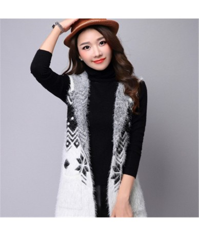 2019 New Winter Autumn Women Seveless Sweater Cardigans Casual Warm Long Design Female Knitted Sweater Cardigan Sweater Lady...