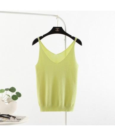 Hot Sale Women Sexy Top New Fashion Sleeveless Camisole Summer Slim V Neck Tank Tops T Shirt Ladies Vest Singlets 3BX008 - G...
