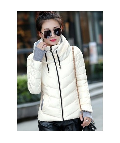 Cheap wholesale 2018 new winter Hot selling women's fashion casual warm jacket female bisic coats T1192 - Beige - 4130869186...