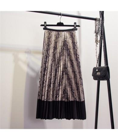 2019 Harajuku Metallic Silver Multicolor Rainbow Stripe Printed Skirt Elastic Waist Pleated Skirt For Women Young Girl * - C...