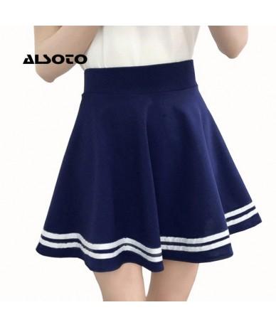 Women Skirt Faldas Mujer Moda 2019 Winter Summer Style Women Elastic Faldas Ladies Midi Skirts Sexy Girl Mini - Navy - 42305...