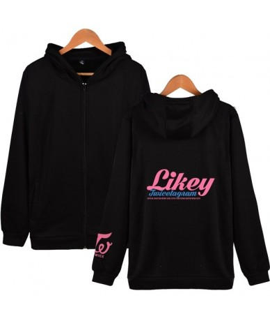 KPOP TWICE What Is Love Album Hoodies Women Na Yeon Letter Print Hip Hop Hooded Zipper Sweatshirt Slim Fit Hoody Jacket Fema...