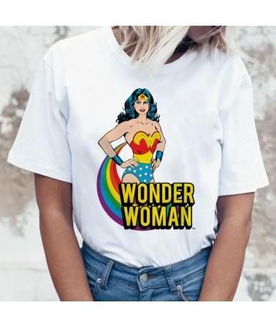 Wonder Woman t shirt ulzzang tee shirt t-shirt harajuku tshirt women femme hip hop female summer top streetwear cartoon - 27...
