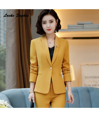 Women's Plus size Slim fit Blazers coats 2019 Autumn cotton Long sleeves Small Suits jackets ladies Skinny Blazers Suits coa...