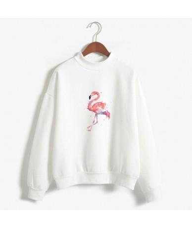 Female Sweatshirts Hoodie Pink Flamingo Hoodies Sweatshirt Women Long Sleeves Hoody Pullover Cute Autumn Red Blue Girl Cloth...