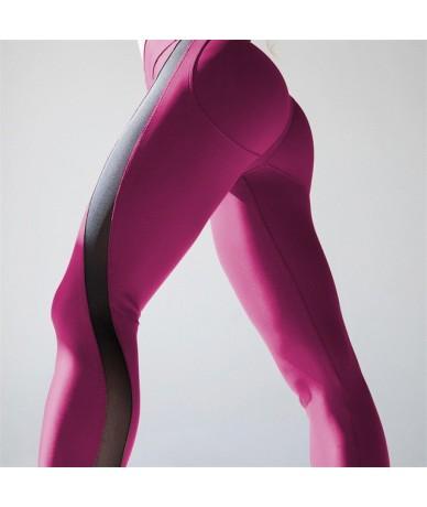 2018 Autumn New Sexy Mesh Patchwork Stretchy Sporting Legging Women Booty Leggings Elastic Waist Fitness Push Up Leggings - ...