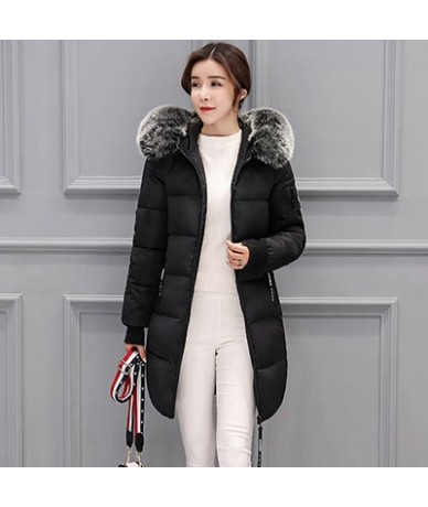 2018 New Fashion Women Winter Jacket With Fur collar Warm Hooded Female Womens Winter Coat Long Parka Outwear Camperas plus ...