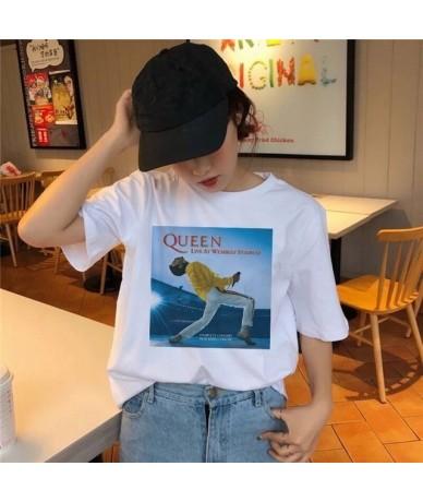 Freddie Mercury T Shirt The Queen Band Rock T-Shirt Women Hip Hop Casual Tshirts Harajuku Female Top Tee Shirts Streetwear -...
